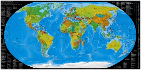 The best world map ever cyrus farivar i really want a copy of this map to hang on my wall to replace my national geographic world map it combines a political and physical map gumiabroncs Gallery